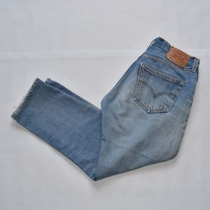 Levi Strauss MidWash 501 Button Fly Jeans.
